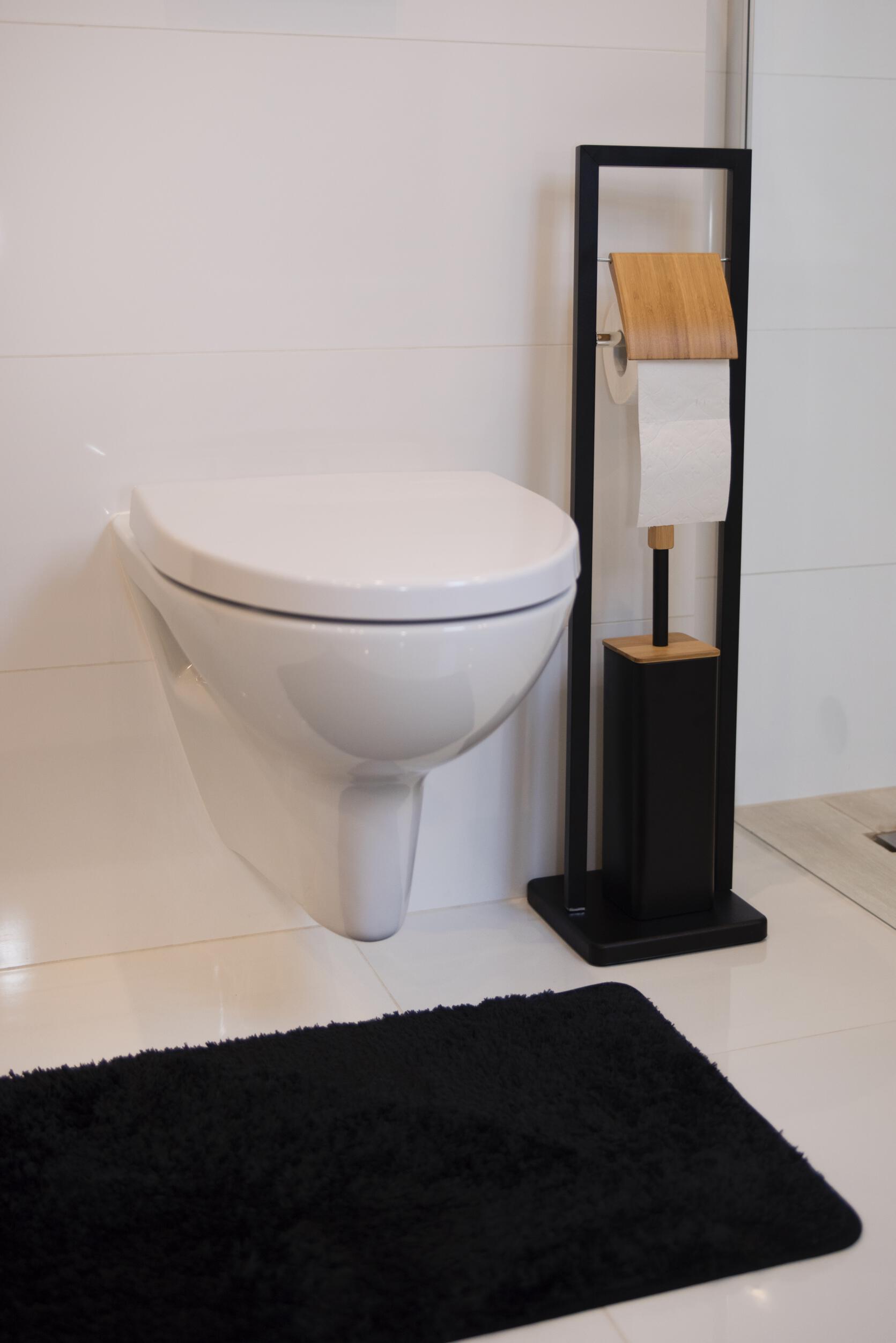 Zestaw łazienkowy Stojak Na Papier Blackwhite Czarny